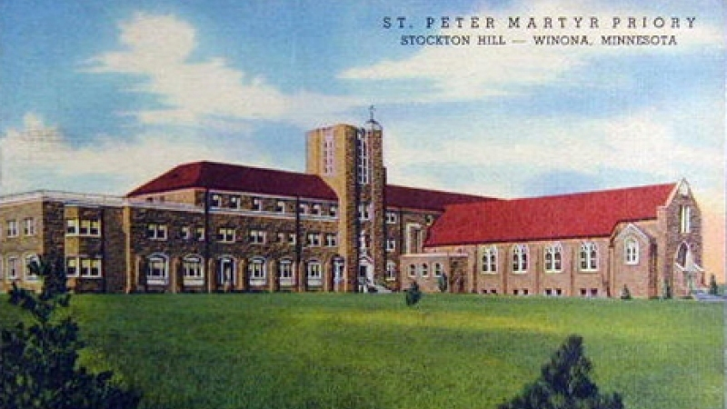 Historical Postcard Winona St Peter Martyr 1950s