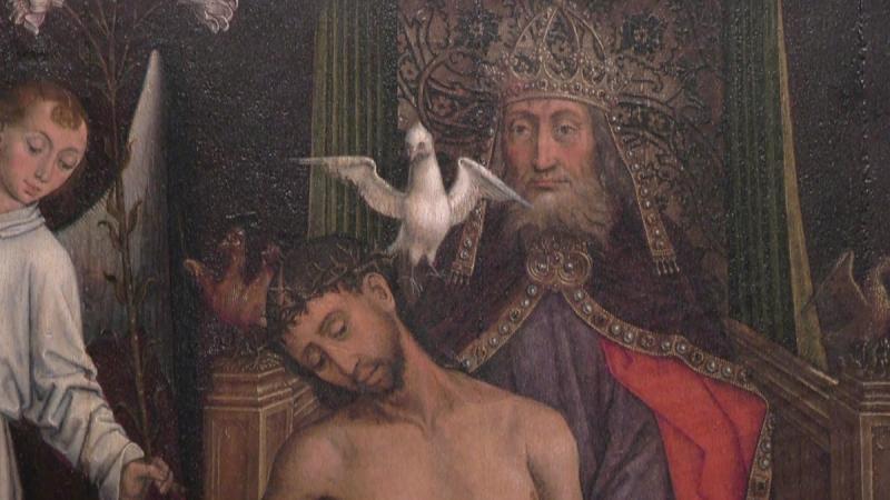 Holy Trinity Flemish Painting